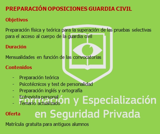 PLANTILLA GUARDIA CIVIL
